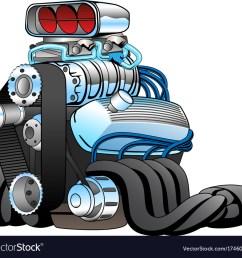 hot rod race car engine cartoon vector image [ 1000 x 928 Pixel ]