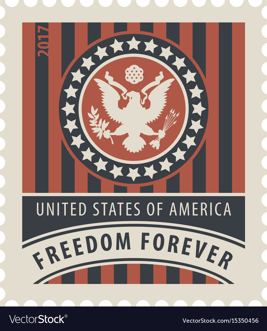 usa postage stamp with
