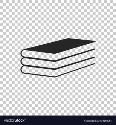 Books icon isolated on transparent background Vector Image