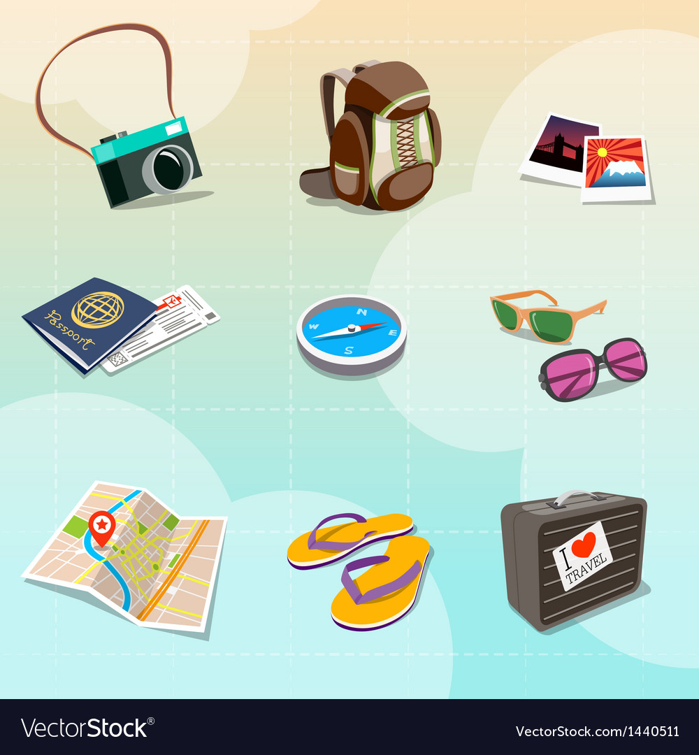 medium resolution of travel clipart vector image