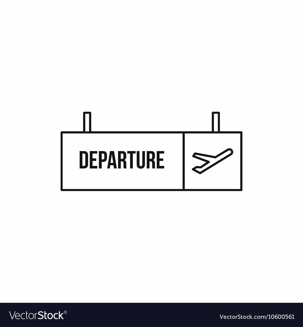 departure sign at airport