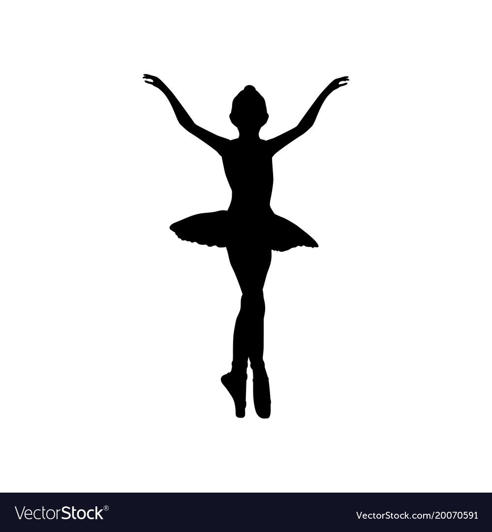 girl ballerina silhouette dance