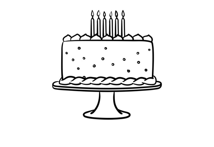 Birthday Cake Hand Drawn Sketch Icon Royalty Free Vector
