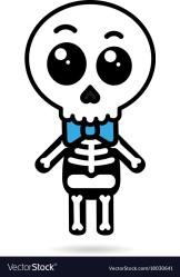 skeleton halloween cute kawaii boy vector isolated