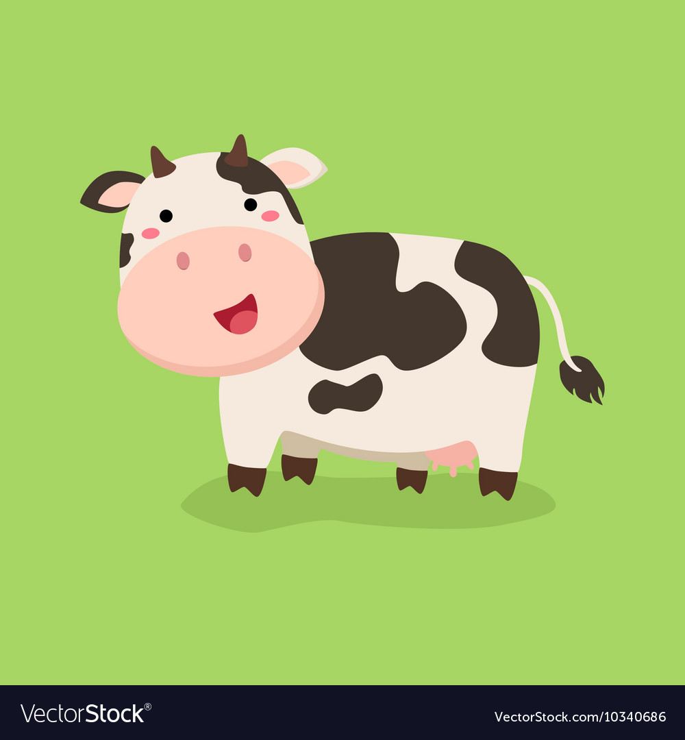 cute cow standing in