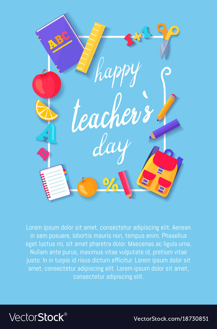 happy teachers day poster