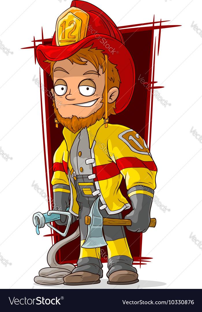 cartoon fireman chief in