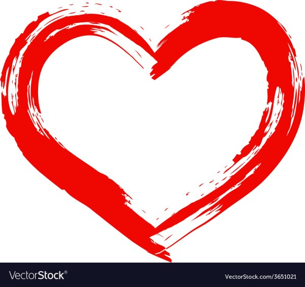 Dry Brush Painted Heart Royalty Free Vector