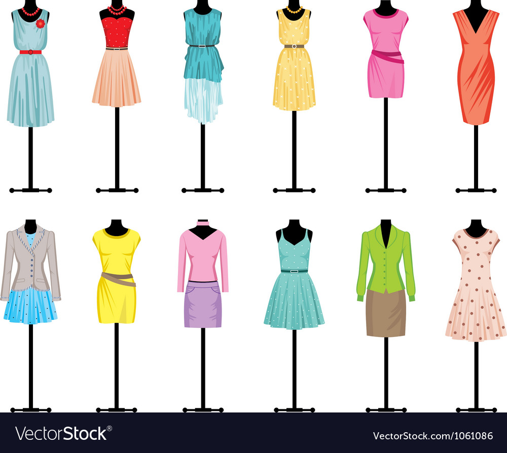 mannequins with women clothing