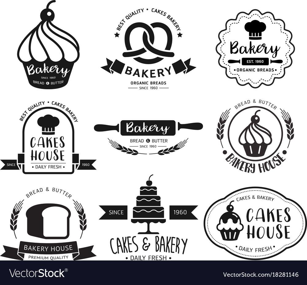 Bakery Shop Logo Royalty Free Vector Image Vectorstock