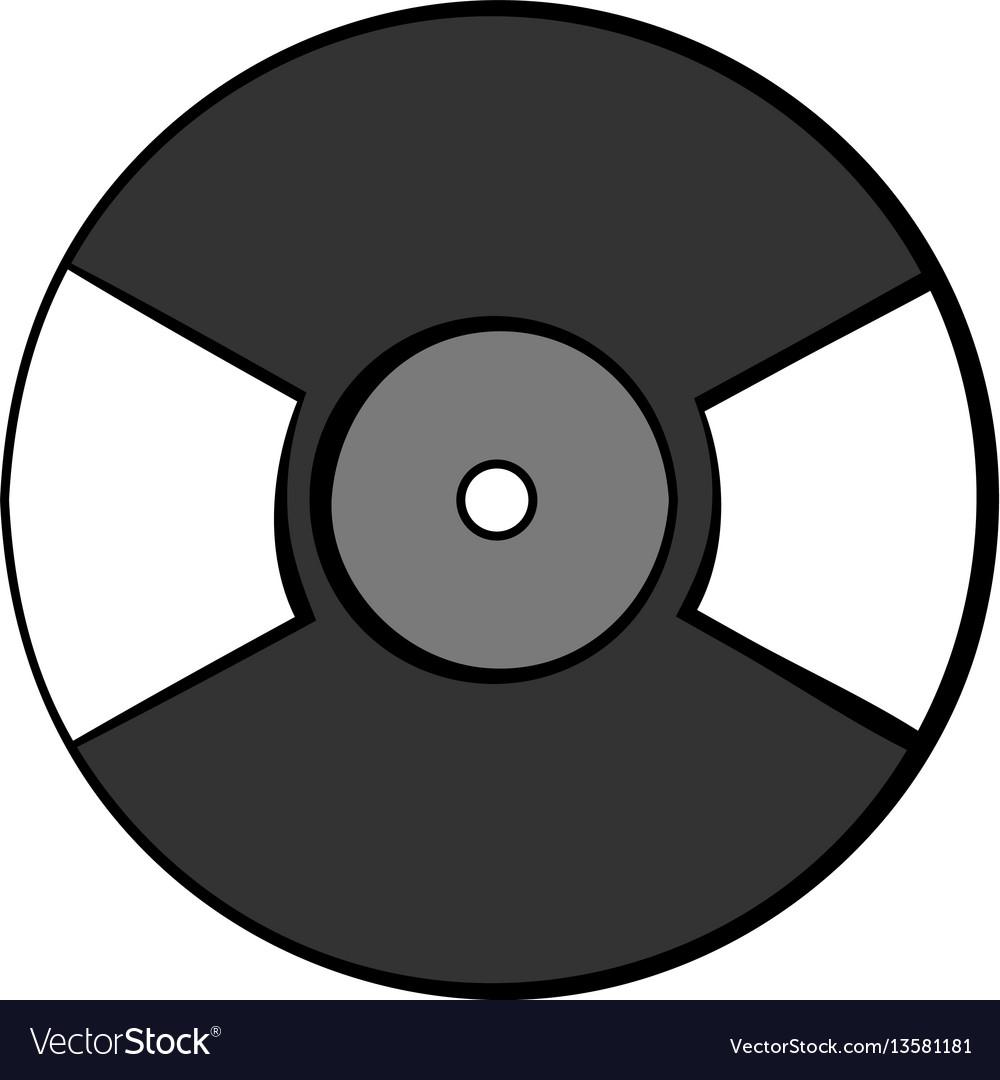 hight resolution of vinyl record icon cartoon vector image