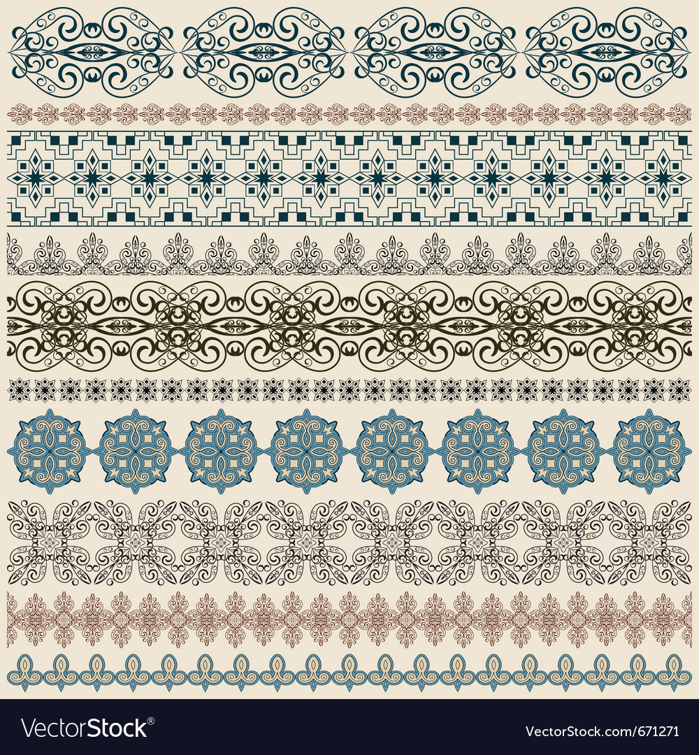 seamless vintage border patterns