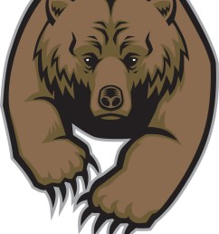 grizzly bear mascot vector image [ 738 x 1080 Pixel ]