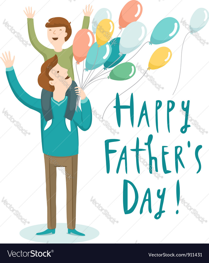 hight resolution of fathers day vector image