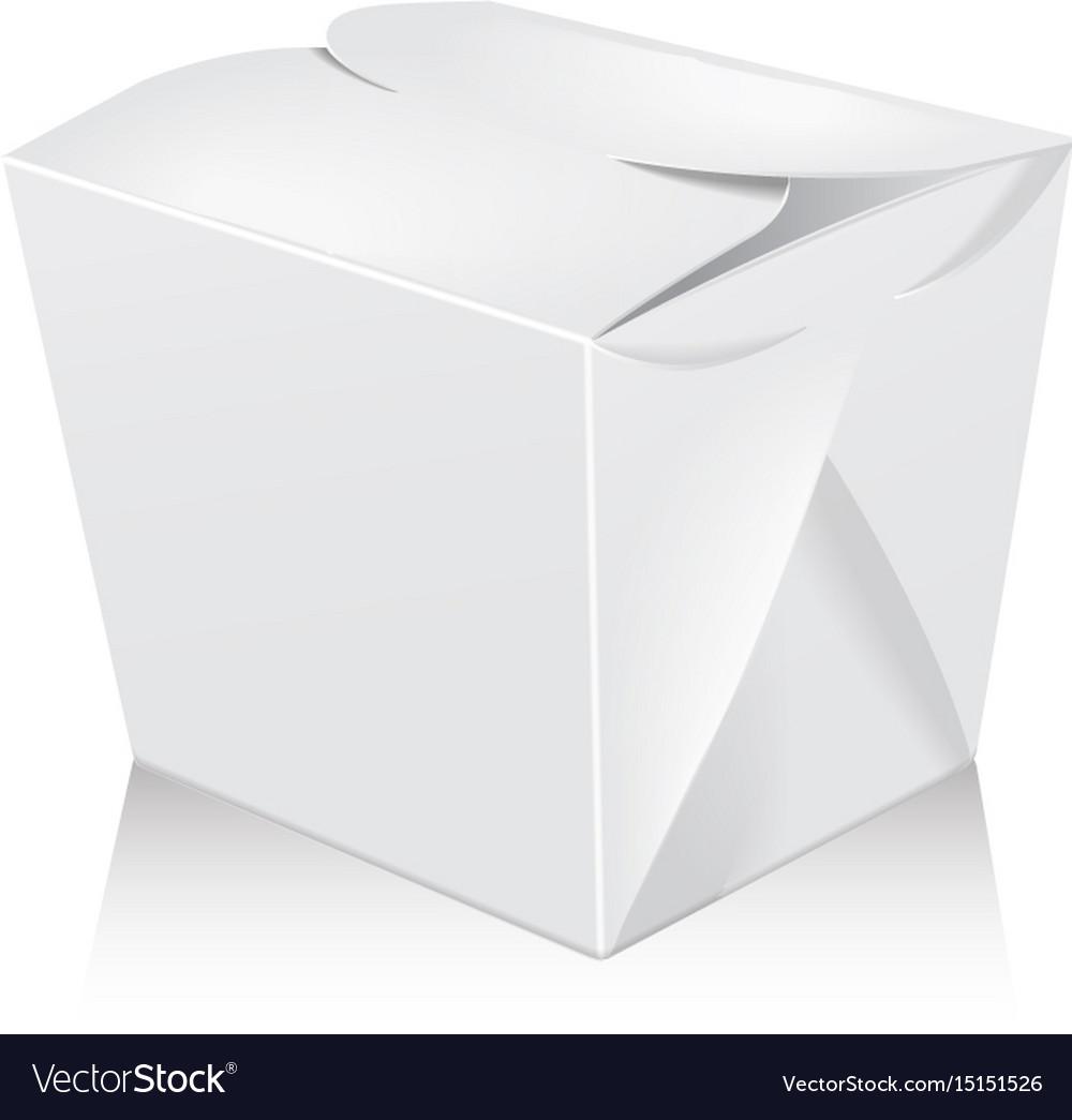 Carton box for asian or chinese take away food paper bag stock vector and explore similar. Closed White Blank Wok Box Mockup 3d Royalty Free Vector