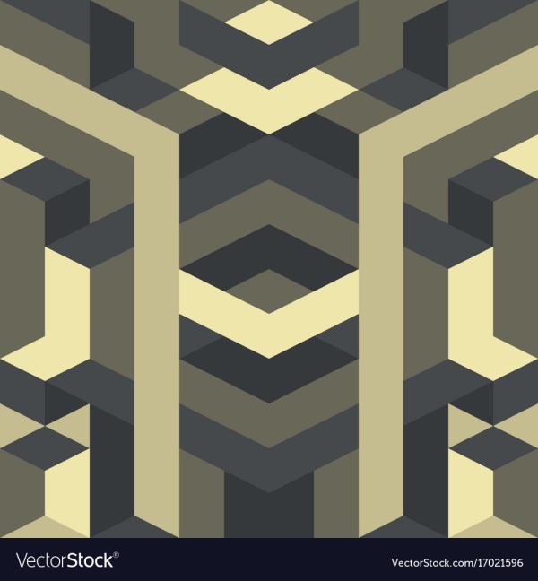 Abstract Geometric Pattern Gothic Art Deco Vector
