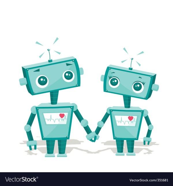 Robot Cartoon Royalty Free Vector - Vectorstock