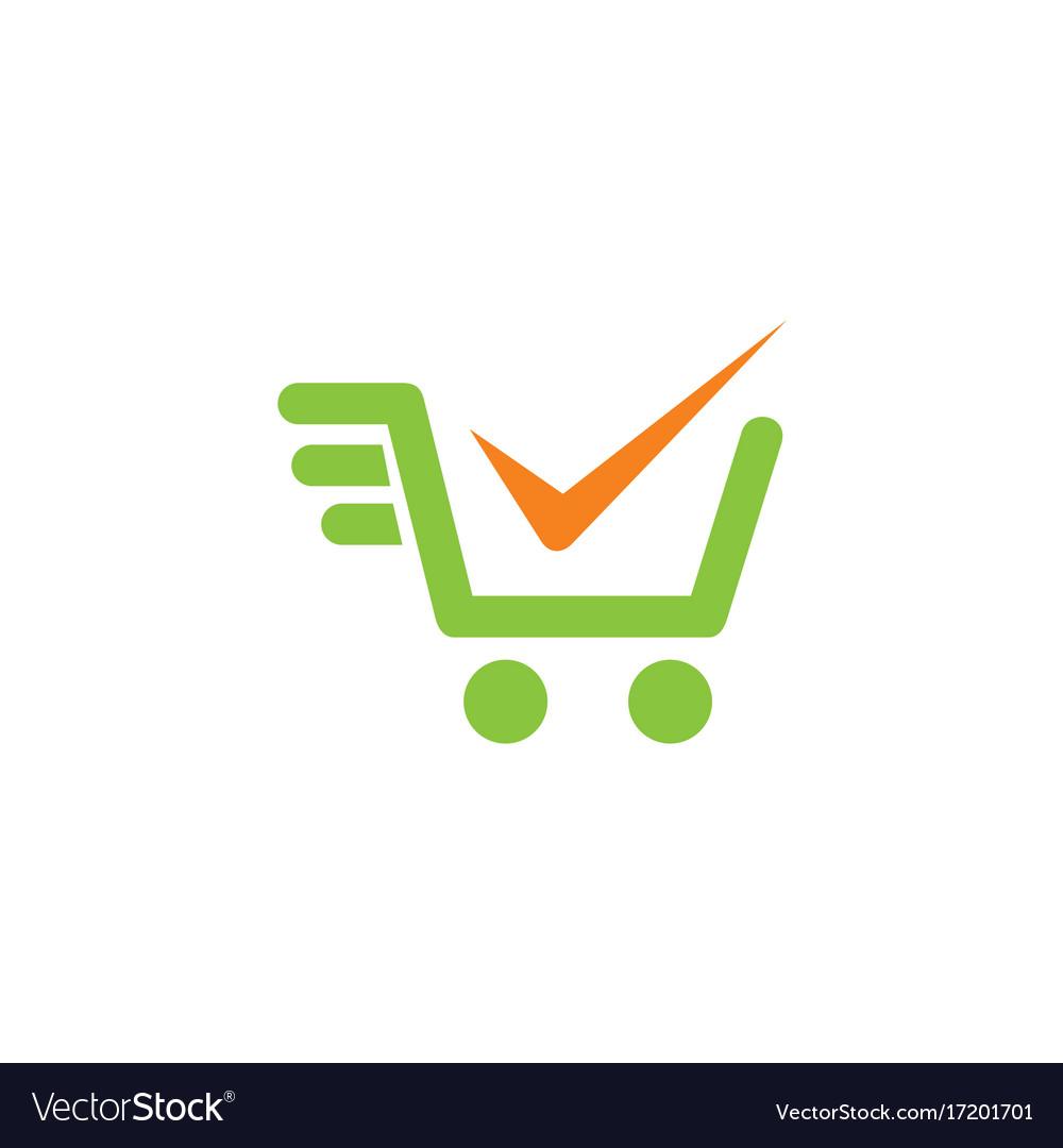shopping cart check mark