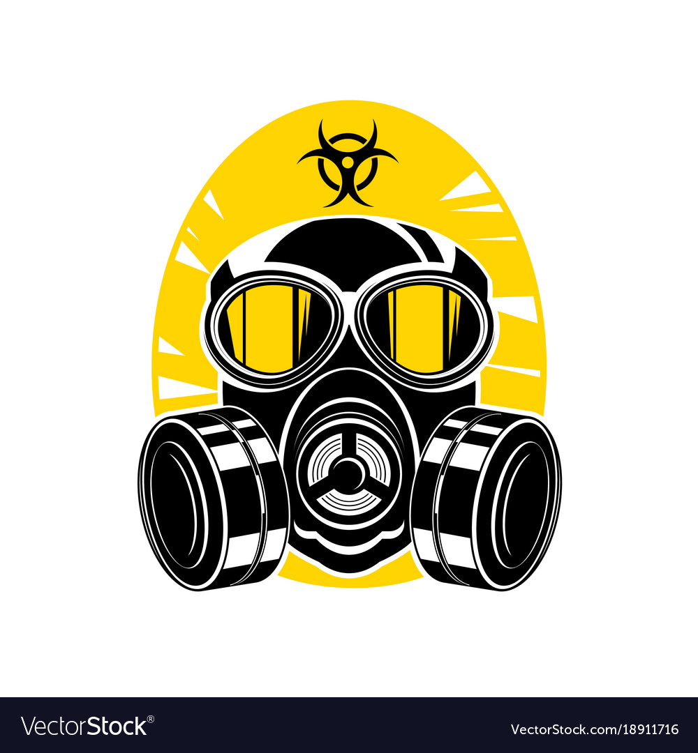 gas mask with lenses
