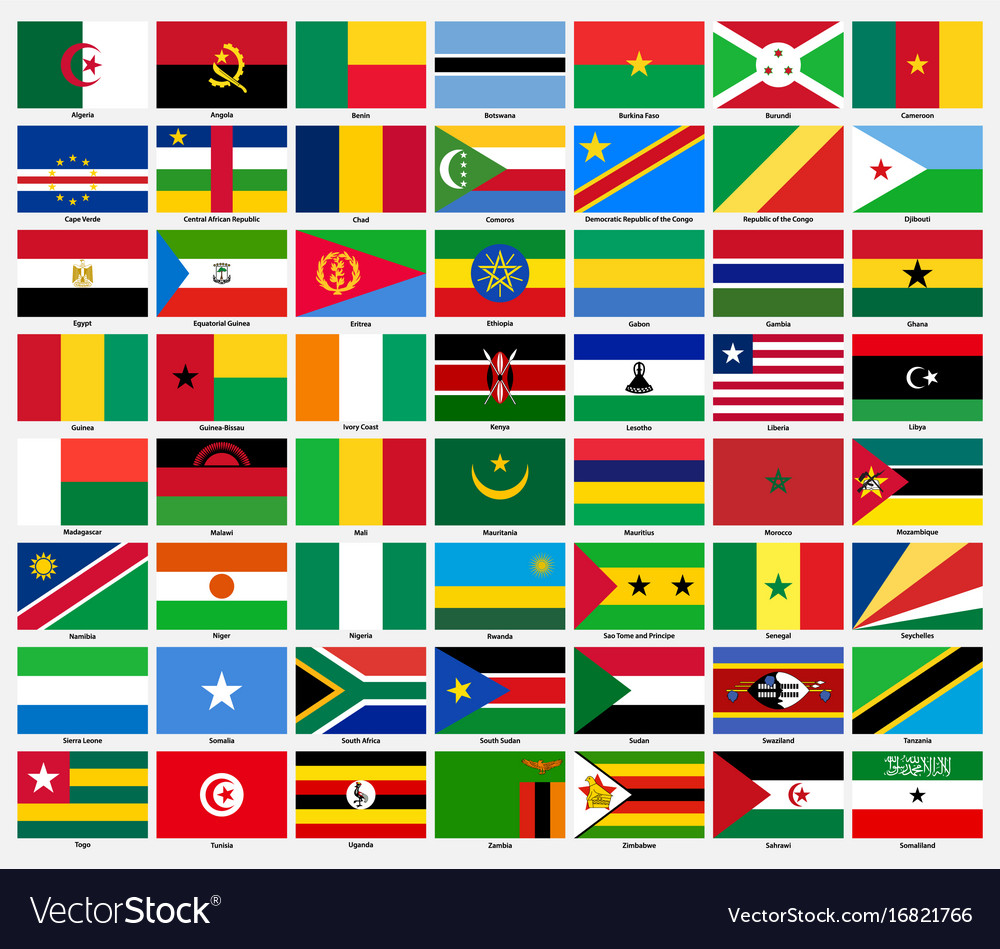 set of flags of