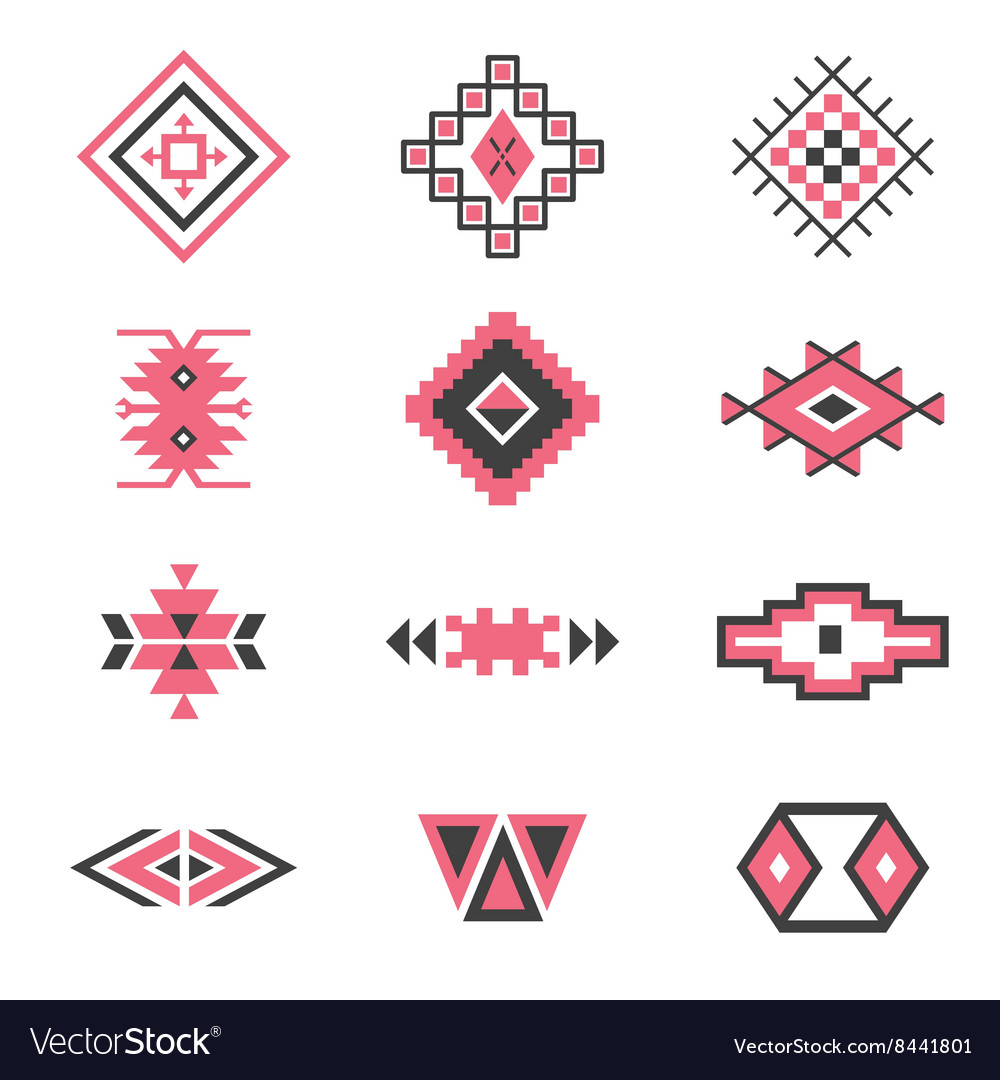 symbols tribal design ethnic