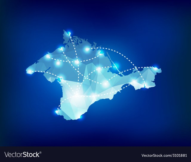 Crimea Country Map Polygonal With Spot Lights Plac Vector Image