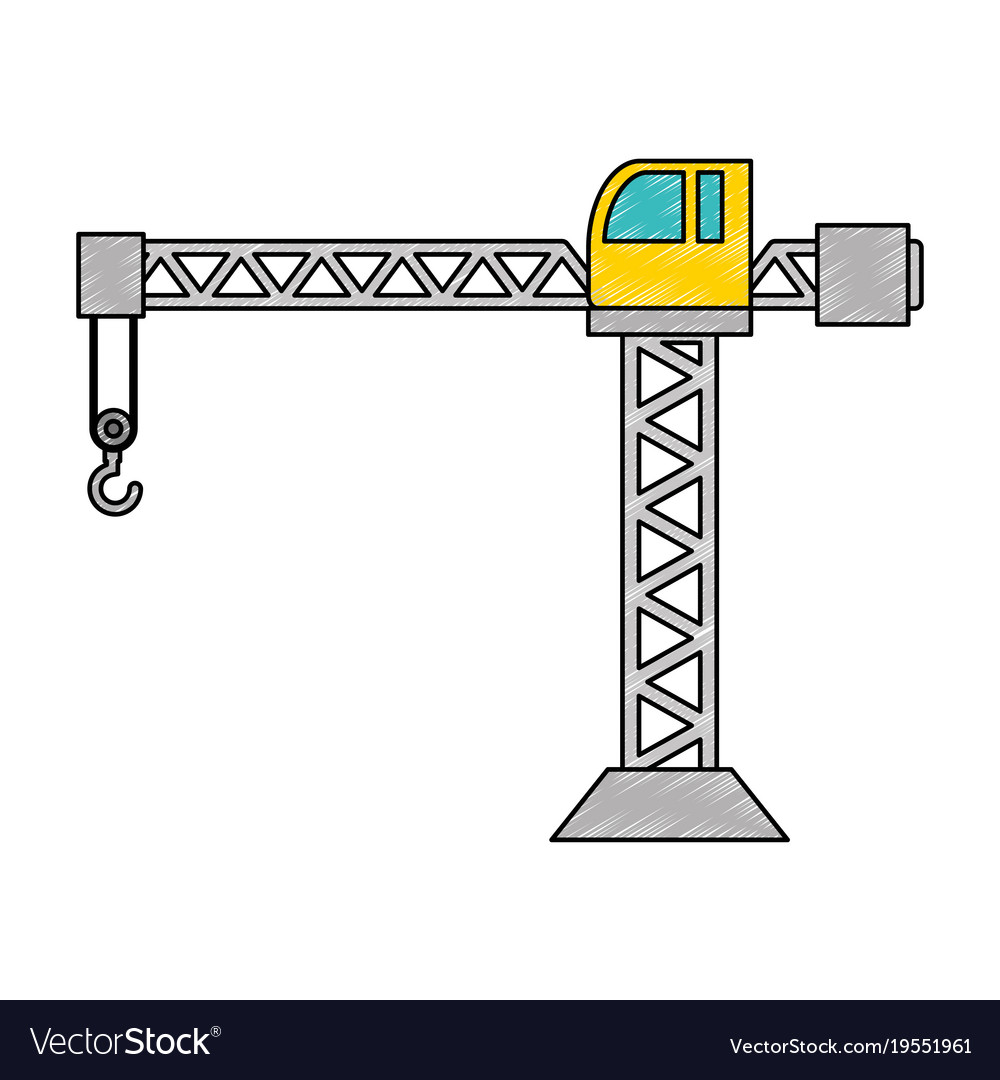 hight resolution of crane construction tower icon vector image