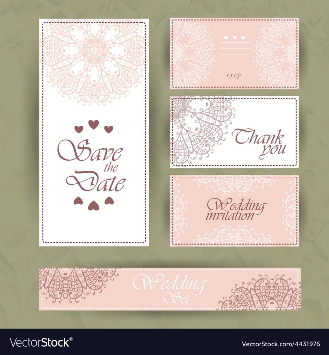 Wedding Invitation Thank You Card Save The Date