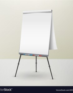also flip chart isolated blank sheet of paper vector image rh vectorstock
