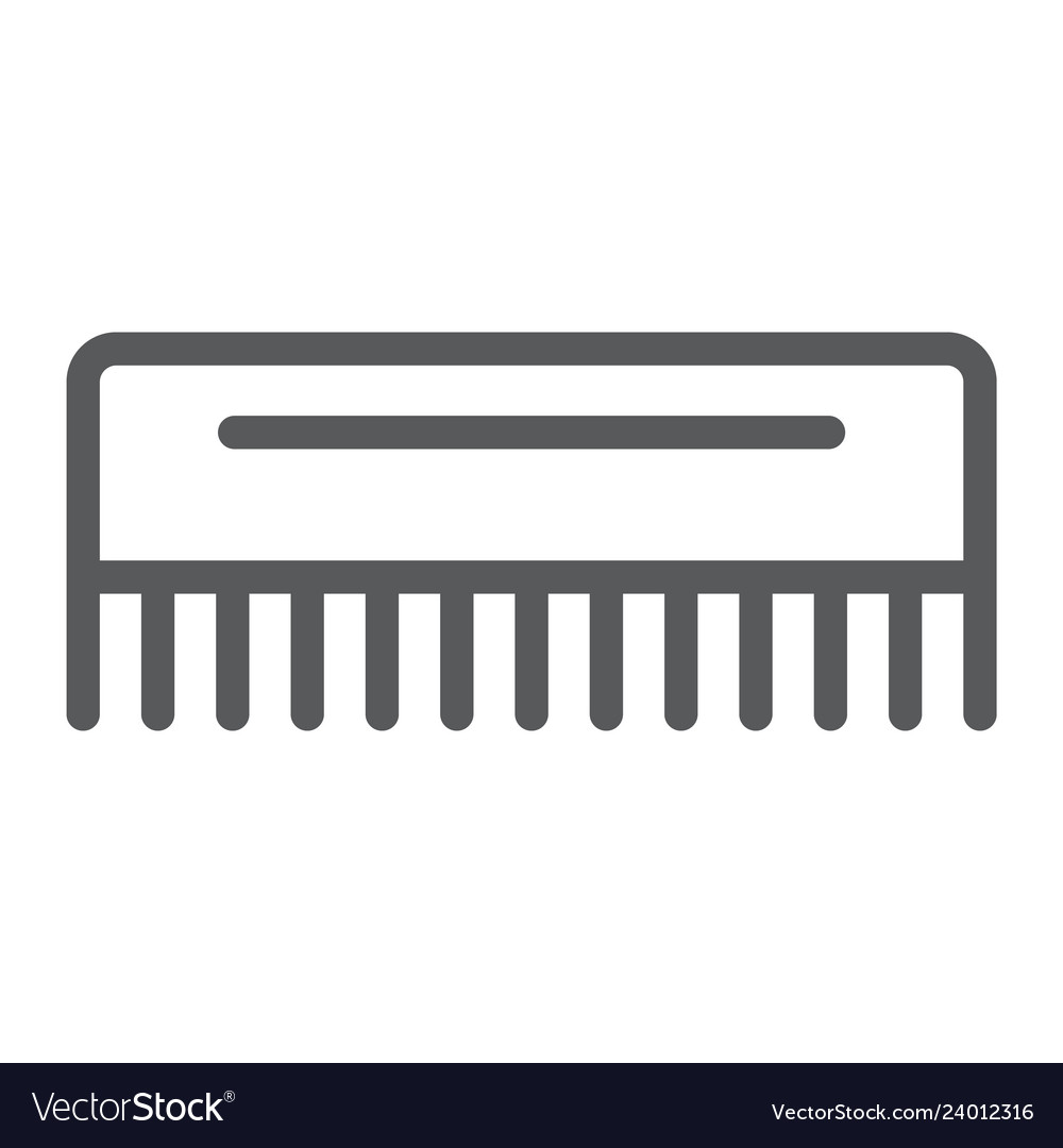 comb line icon hairdressing