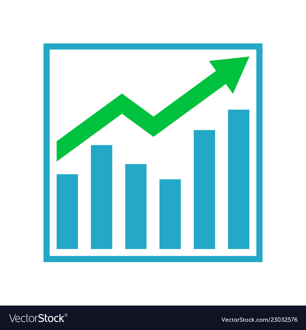 medium resolution of growth graph business chart bar diagram vector image