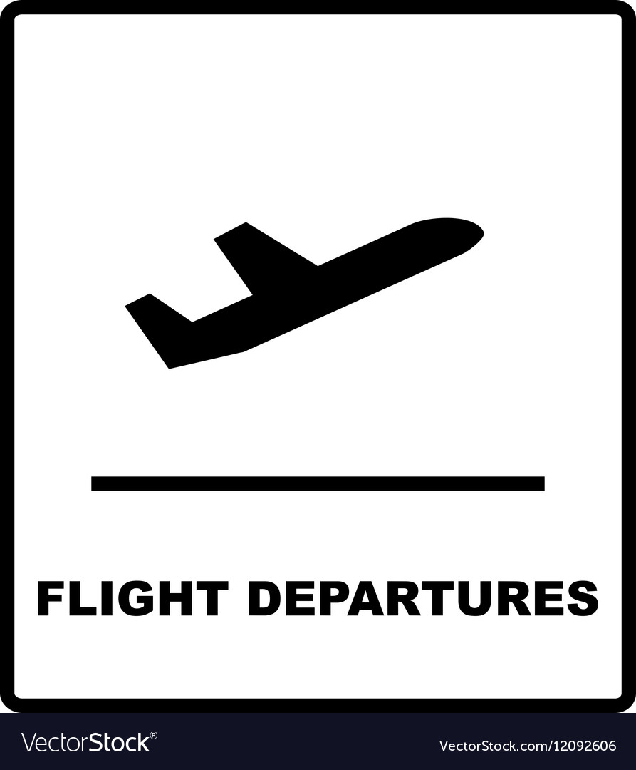 realistic airport sign departures