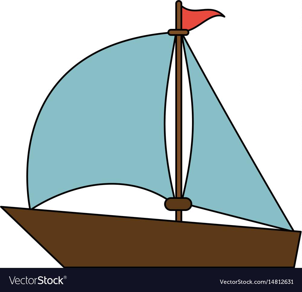 color image wooden boat