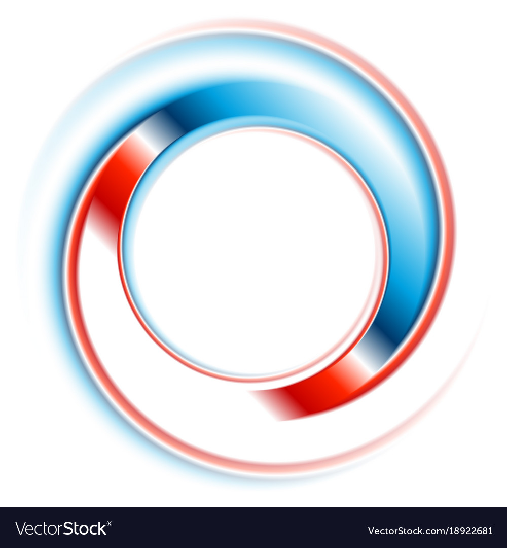 blue and red round