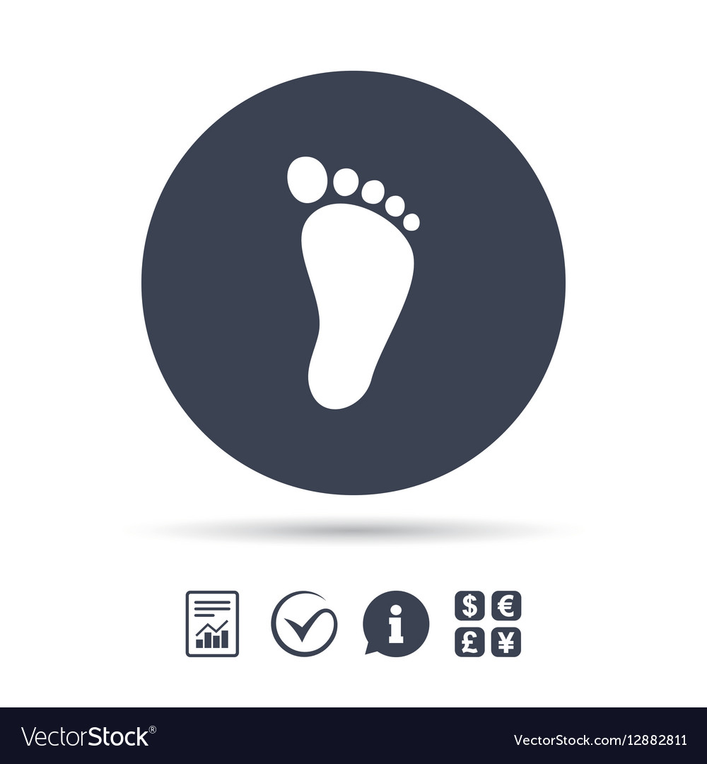 child footprint sign icon
