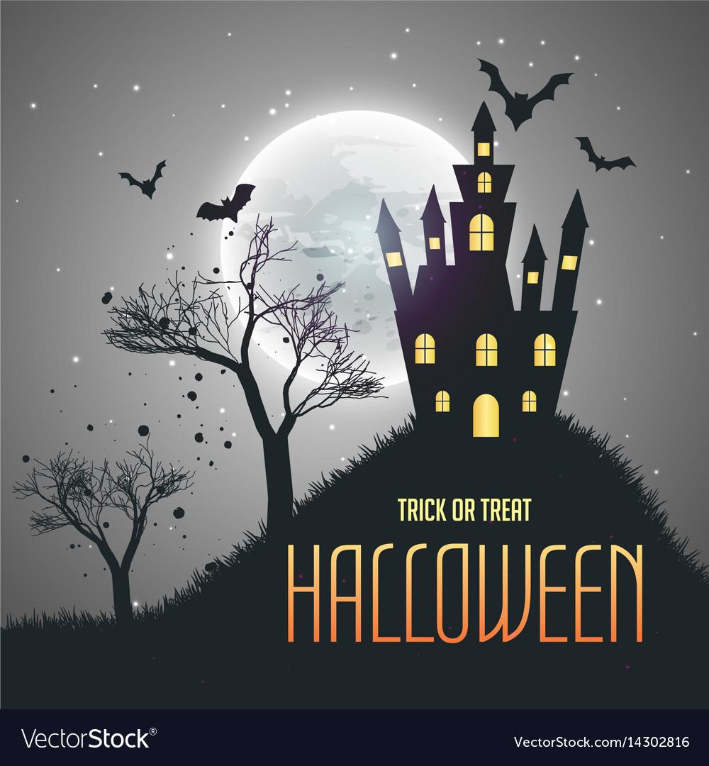 halloween house night sky