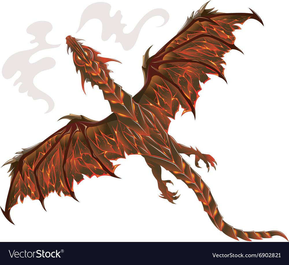 lava dragon royalty free