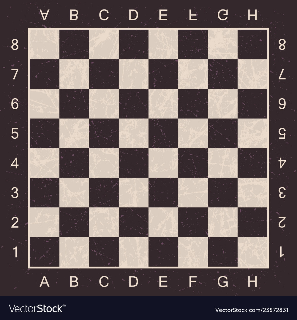 grunge chess board with