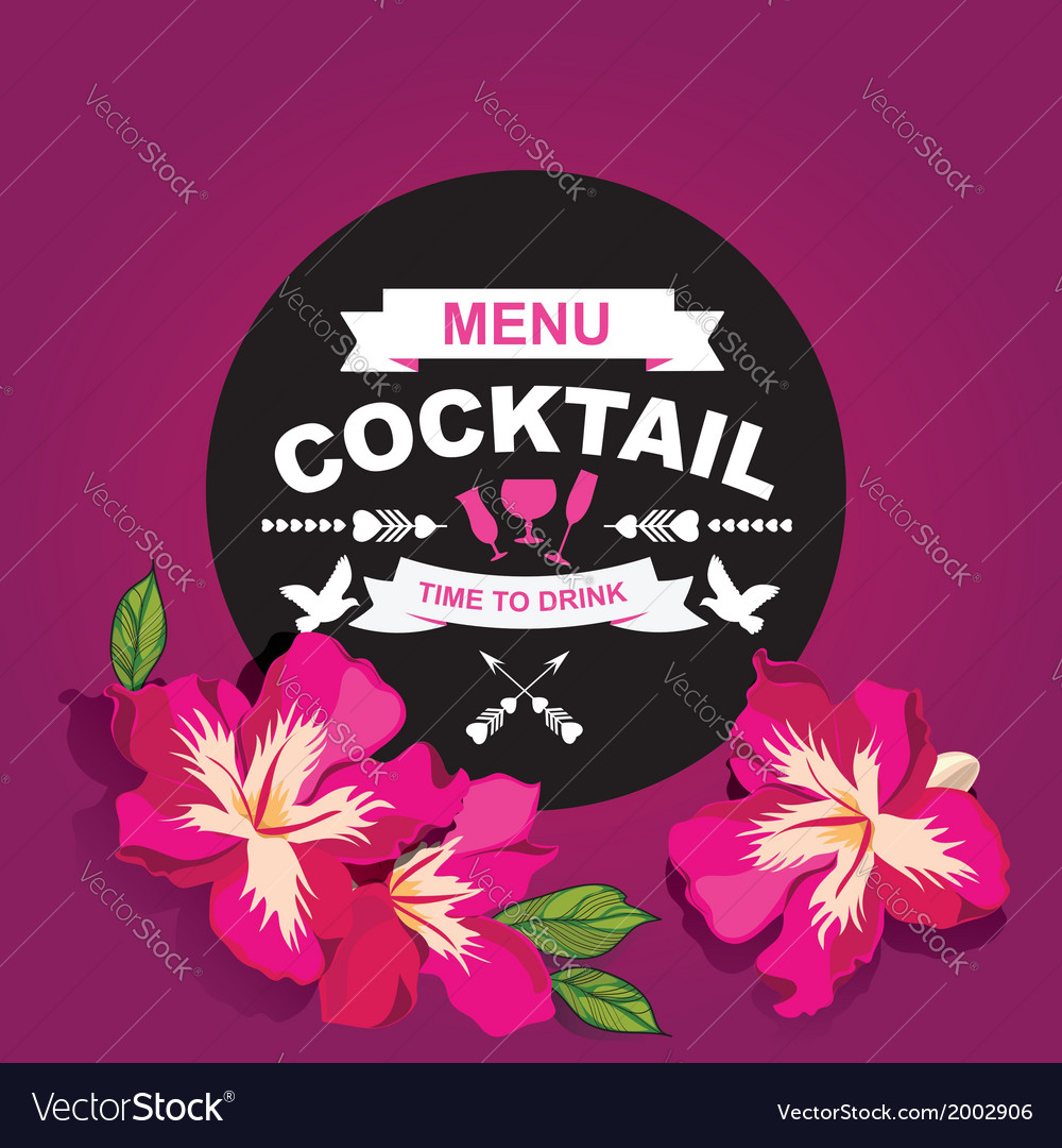 Cocktail bar menu template design Royalty Free Vector Image