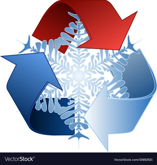 small resolution of save heat energy recycle symbol vector image