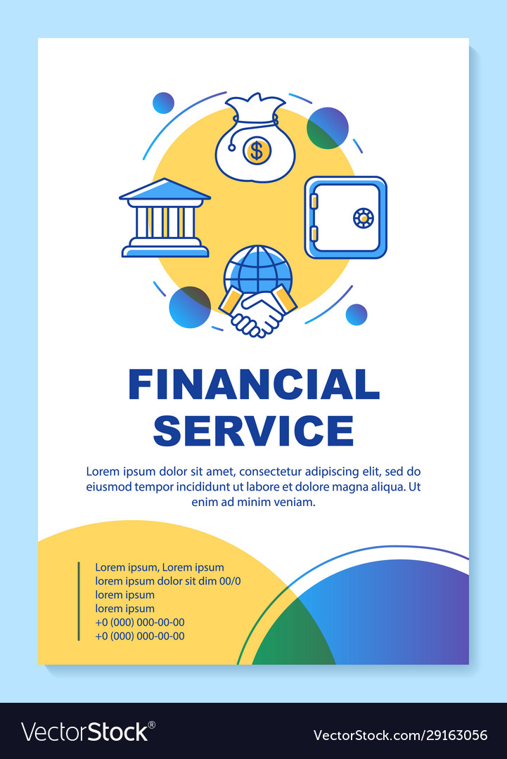 Finance Poster : finance, poster, Financial, Service, Poster, Template, Layout, Vector, Image