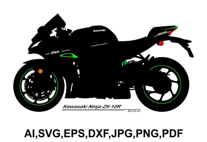 Kawasaki Ninja Zx 10r Royalty Free Vector Image