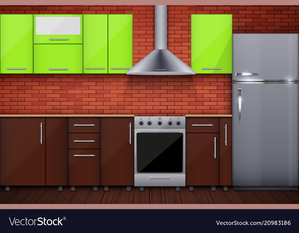 typical modular kitchen