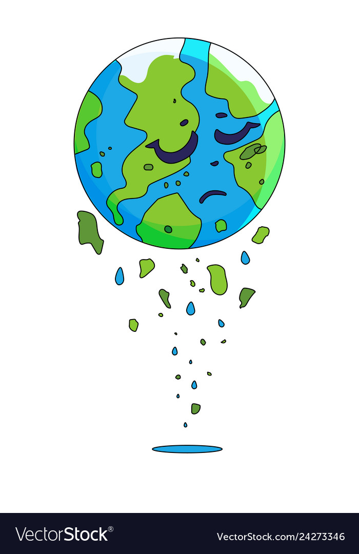 Gambar Poster Global Warming : gambar, poster, global, warming, Global, Warming, Planet, Earth, Character, Vector, Image
