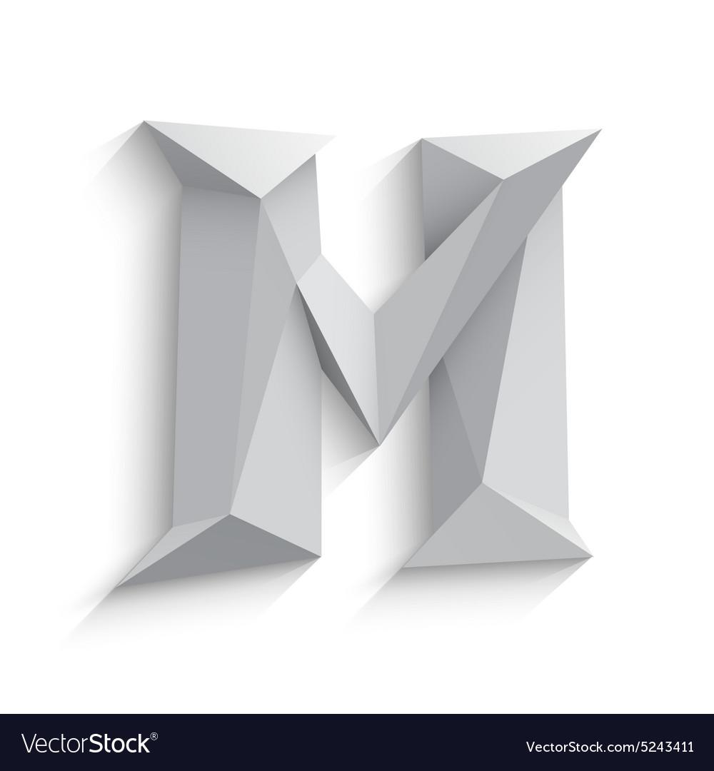 3d letter m on