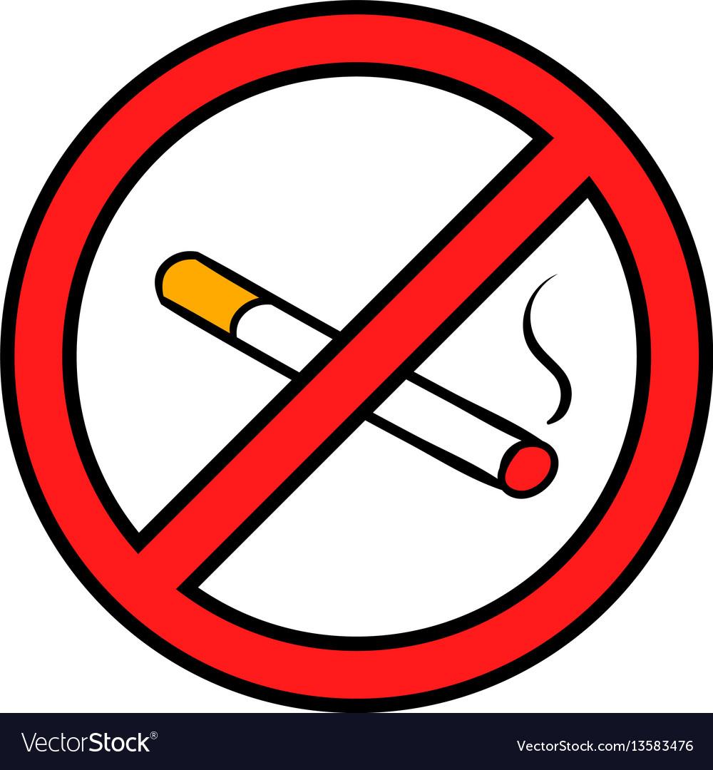 badge no smoking icon