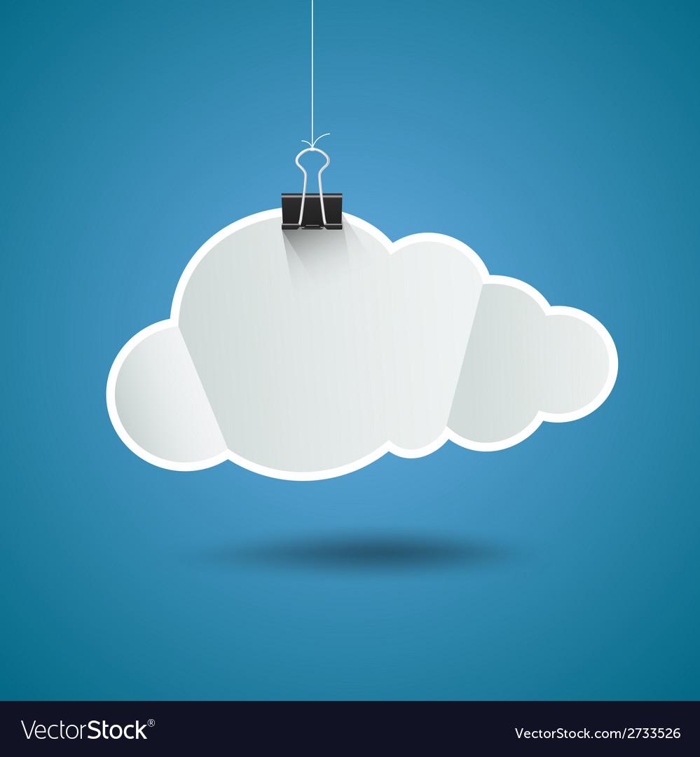 white paper cloud shape