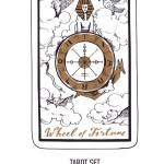 Hand Drawn Tarot Card Deck Major Arcana Royalty Free Vector