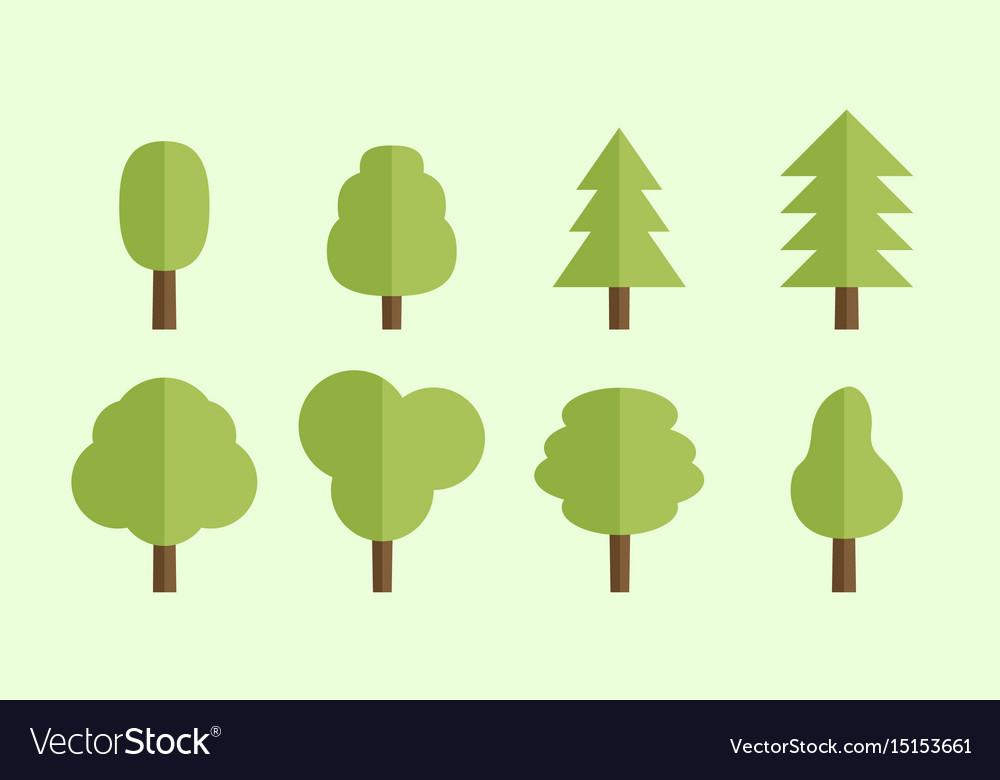 set of flat trees