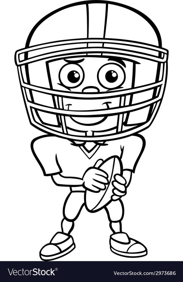 football player coloring page # 12